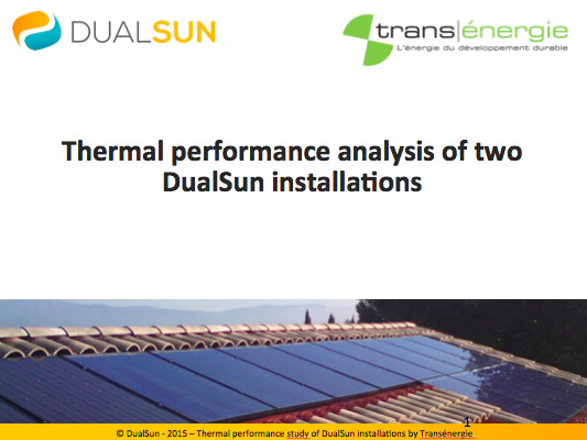 thermal performance dualsun by transenergie