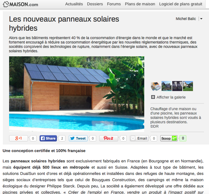 DualSun - Article Maison.com