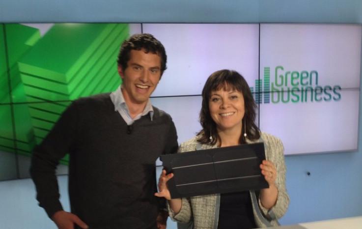 Nathalie Croisé spécialiste en énergie renouvelable et Jérôme Mouterde de DualSun
