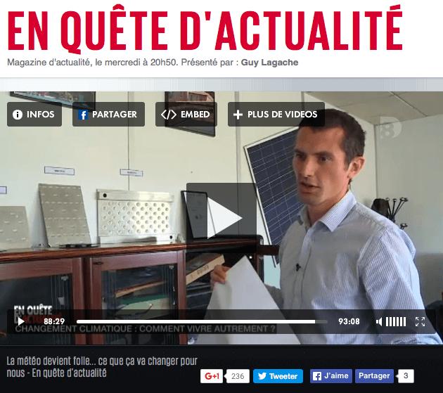 DualSun - Reportage D8 2015