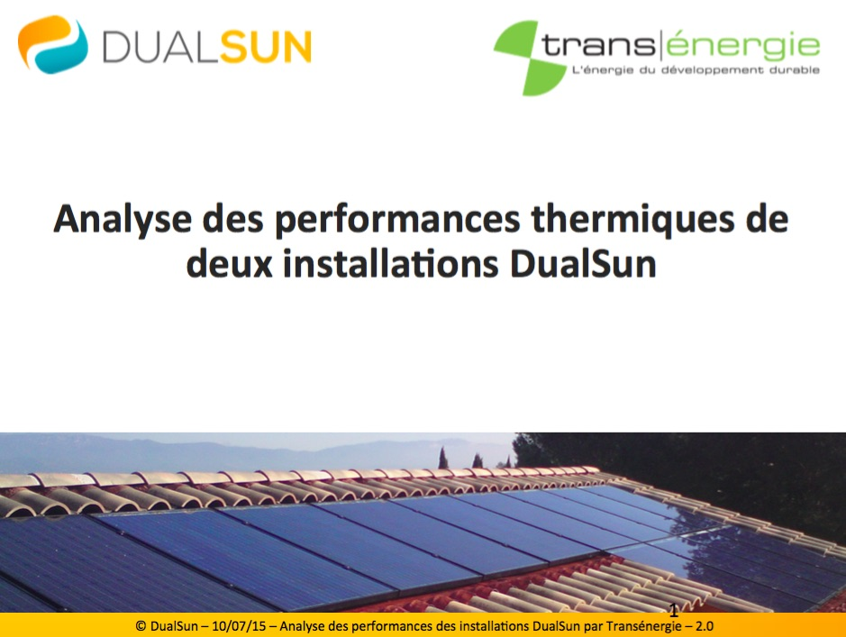 dualsun analyse performances thermiques