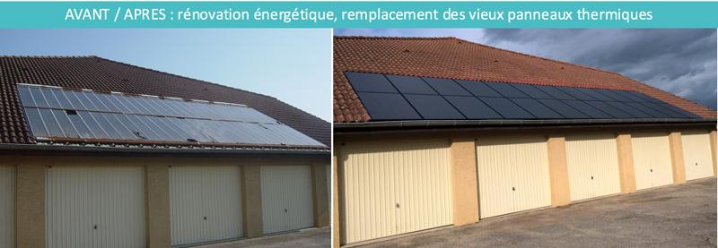 remplacement panneaux solaires