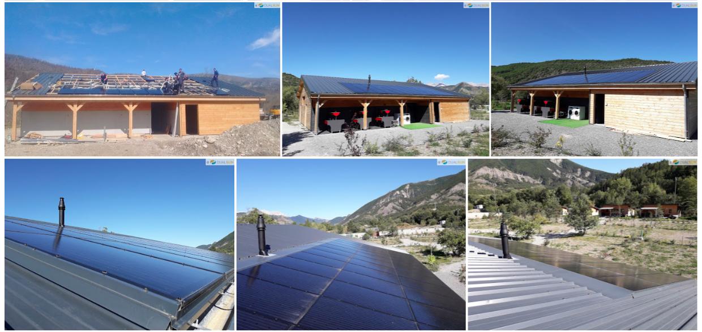 panneau solaire camping hautes alpes