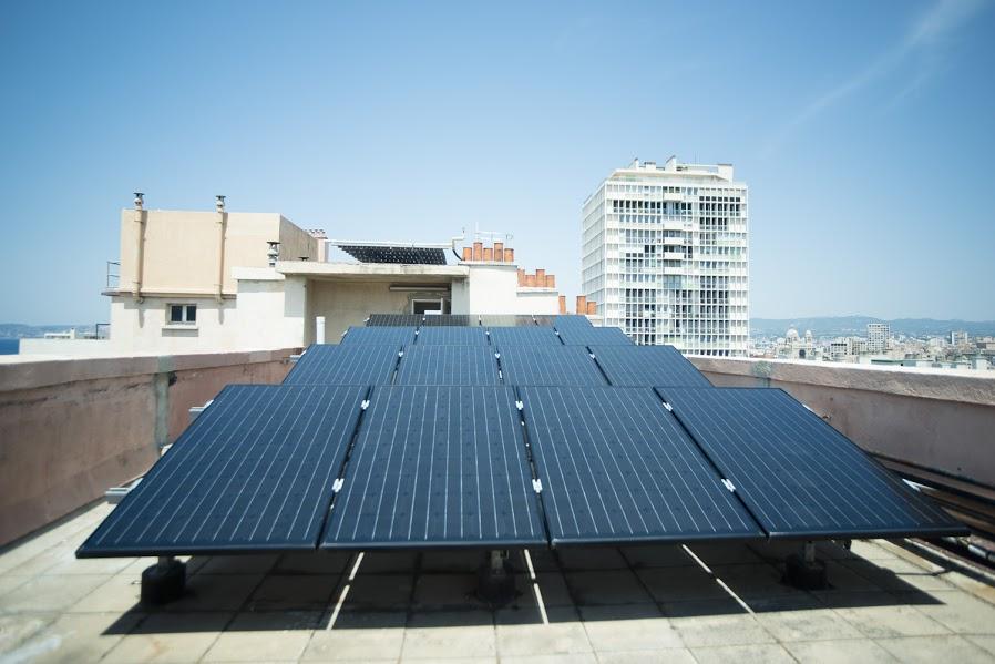 Panneaux solaires immeuble Sogima Pasteur Marseille